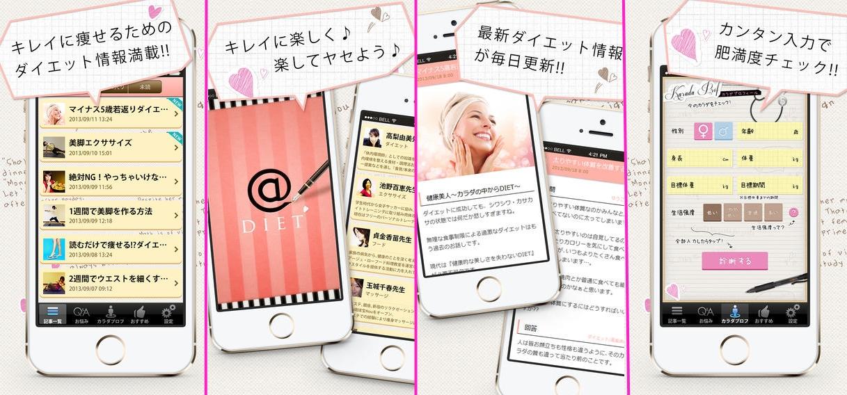 ダイエット女子が痩せた魔法のアプリ iPhone