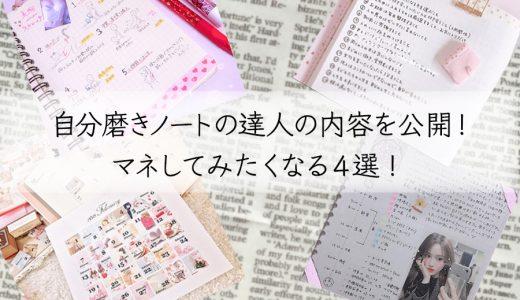 自分磨きノートの達人の内容を公開!マネしてみたくなる4選!【画像あり】